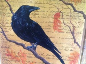 raven, oak tree